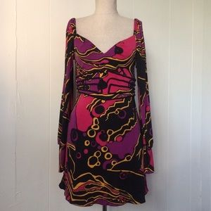 Marciano Silk LS Printed Dress